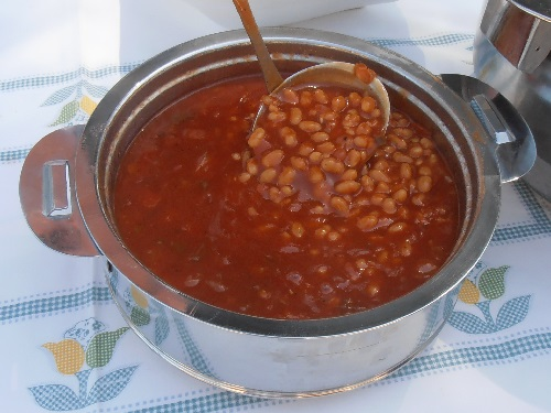 BBQ Baked beans with Texas BBQ sauce