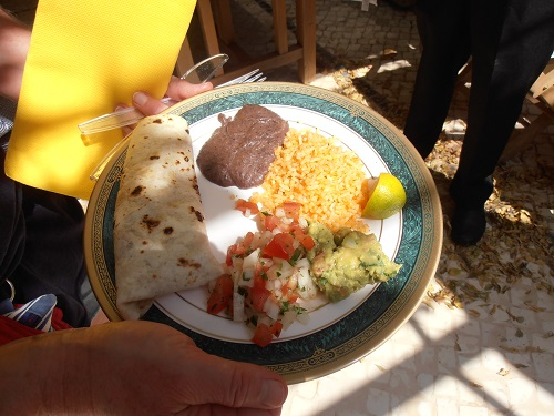 Algarve Mexican Food Catering: A typical mexican plate