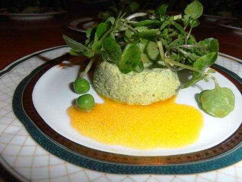 Gourmet Algarve Catering: Sweet pea flan